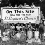 Ground was broken for the new Church building on McFarlane Road in 1954
